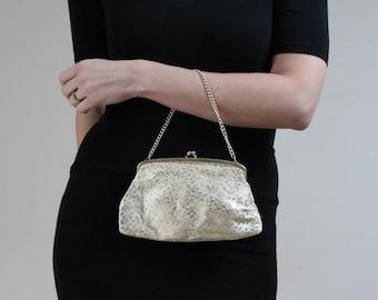 Vintage purse handbag gold purse handbag 60s purse handbag gold lame purse handbag textured gold handbag purse evening bag gold floral gold