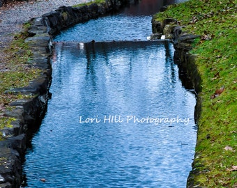 Creek in the park. water. Fall. photo.wall Decor.Background. photography.stock photo. digital print. Printable