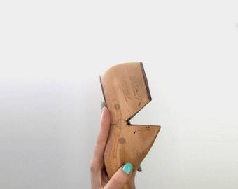 Vintage Antique Wood Shoe Form