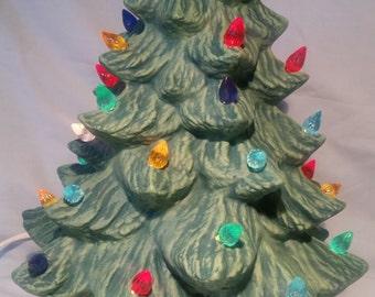 Hand-Painted. Ceramic Christmas Tree.