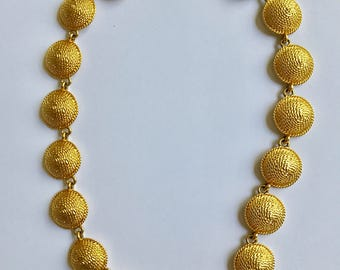 Premier Jewelry Gold Tone Disc Necklace