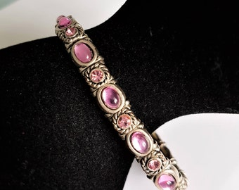 Expander bracelet, vintage bangle, amethyst crystal bangle, vintage bracelet, expander bangle, 1960s bracelet, crystal bracelet, slim bangle