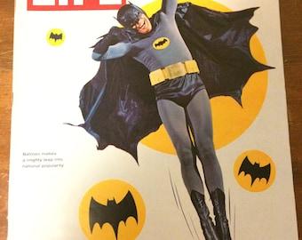 LIFE magazine. Batman cover. Adam West. 1966.