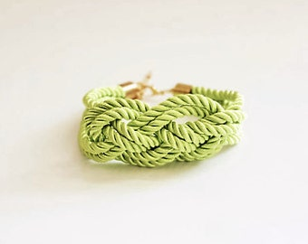 Lime Nautical Knot Bracelet