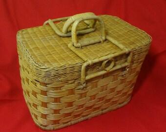 Woven Rattan Double Handle Picnic Basket