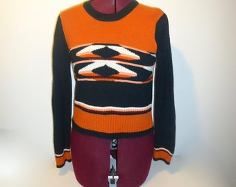 70s Pull Over Sweater Top Acrylic Size S M
