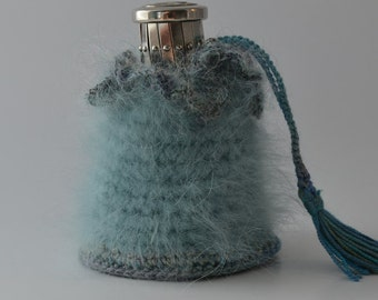 Mohair and silk change purse