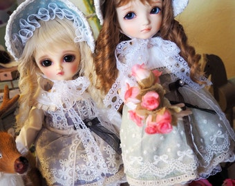 bjd doll girl outfit clothes - Classic Dress Set (2 colors) for YOSD 1/6