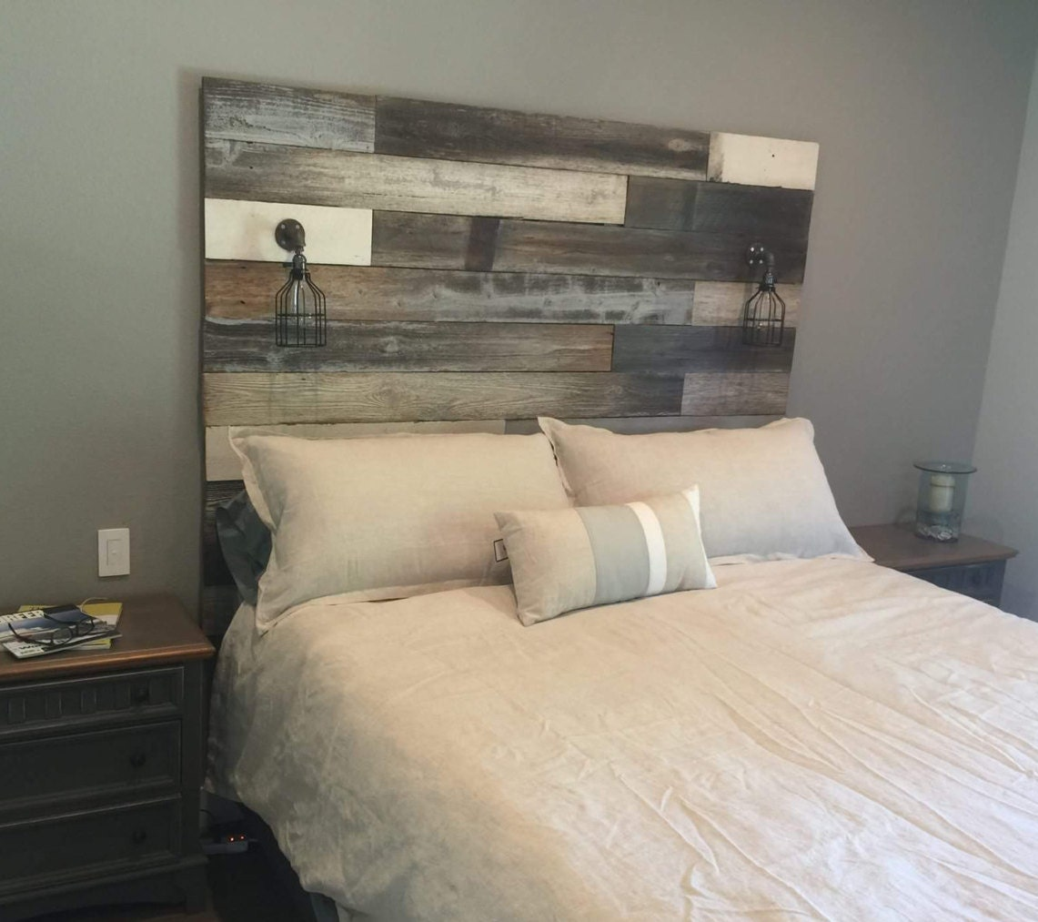 Reclaimed Wood Headboard By Lavinderlullabies On Etsy