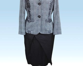 Blouse jacket, Blazer Brüssel with Leoprint.  UK 14, US 12