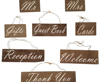 Traditional Set Rustic Wedding Wooden Signs Upcycled Barn Wood Wedding Sign, Country Wedding, Cottage, Farm Decor, Reclaimed