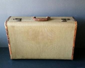 Tweed Suitcase / Luggage.