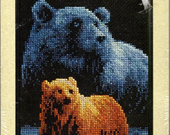 Janlynn Bear Ours Counted Cross Stitch Kit Forever Wild Roger Reinardy 013-0307