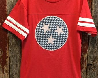 Tennessee Tristar Football Jersey - Tennessee Tristar shirt - Tennessee patriotic - State Pride shirt - State Love shirt