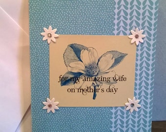 Wife, Mother's Day Greeting Card - Hand Made