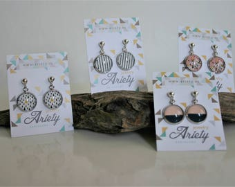 Sterling silver earrings with beautiful images