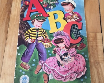 Vintage 1940s The Book of ABC Merrill Childrens Book!