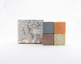 Soap Sampler Set / Natural Cube Soap Assortment Gift Set For Giving or Receiving