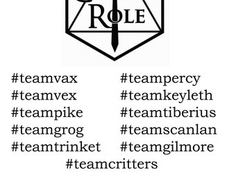 Critical Role Decals | Logo, Team, Phrase