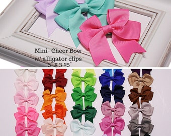 baby hair bows - baby bows - baby hair clips - toddler hair bows - mini cheer bows - baby girl bow - cheerbows - toddler gift