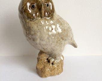 Vintage Owl Figurine, Ceramic Owl