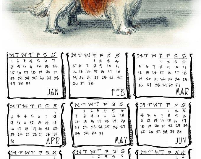 Cavalier King Charles Spaniel 2018 yearly calendar