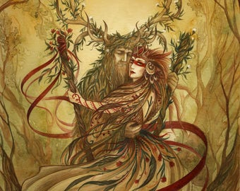 BELTANE ~ Fine art print - pagan art, goddess, illustration