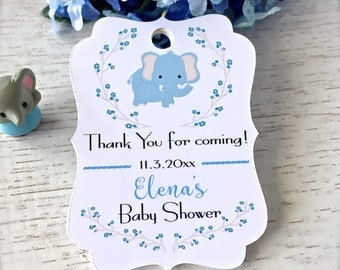 Baby shower tags, baby boy shower, thank you tags, personalized baby shower tags, baby shower decor, baby boy tags - set of 30(bt4)