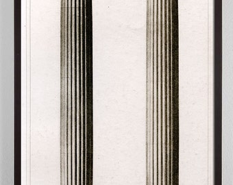 Delicieux Large Vertical Art, Large Vertical Wall Art, Antique Architecture Print,  Architectural Column,