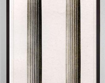 Superbe Large Vertical Art, Large Vertical Wall Art, Antique Architecture Print,  Architectural Column,