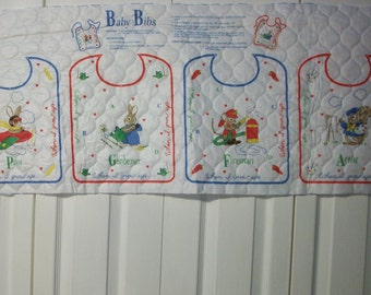 "Wamsutta Quilted ""When I Grow Up ..."" Baby Bibs Panel"