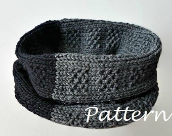 KNITTING PATTERN Seamless Knit Infinity Scarf Pattern Cowl Scarf Pattern Scarf Loop Eternity Scarf Crochet Pattern Knit Scarves Pattern