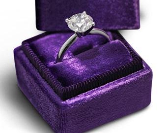 2.54 Carat  GIA Certified Round Diamond Engagement Ring  14K White Gold  #J72187   FREE SHIPPING
