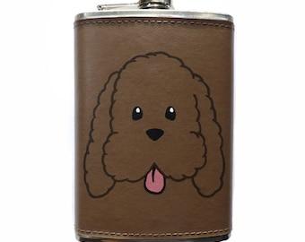 Yuri on Ice Makkachin 8oz Leather Flask