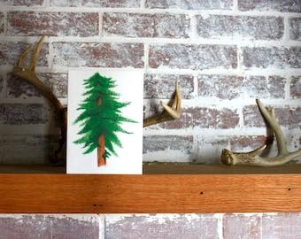 Redwood Watercolor Greeting Card (blank)
