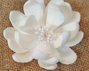 "3"" Medium Lotus Cake Topper/ Edible Unique Flower Cake Topper/ Gum Paste Full  Flower/ Cake Topper/ Edible Flower/ Wedding Cake Toppers"