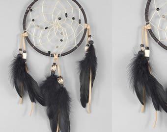 Black Dream Catcher, Wall Hanging Dreamcatcher, Native Inspired Dreamcatcher, Rustic Dream Catcher
