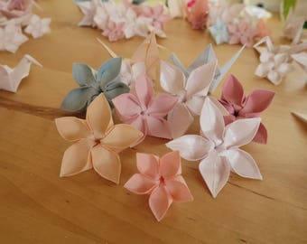Origami mixed pack - Blossom flowers & cranes - any colours