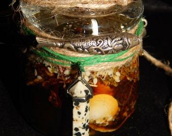 Fertile Fish Honey Jar - Honey Jar Spell - Abundance Spell - Fertility Spell - Hoodoo Spell Jar - Witch Jar - Magickal Curio - Folk Art Item