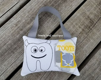 DIGITAL ITEM: Doodle Monster Tooth Fairy Pillow ITH Design 5x7 Hoop