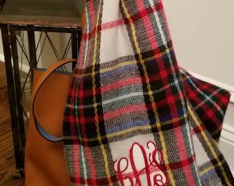 Monogrammed Blanket Scarf---SPECIAL BUY