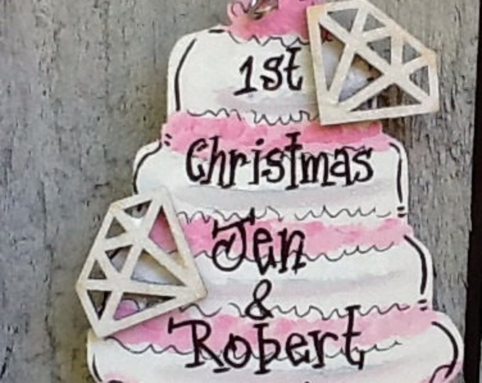 First christmas ornament, wedding ornament 2016, wedding ornament, newlywed ornament, anniversary ornament 2016, couple ornament, christmas