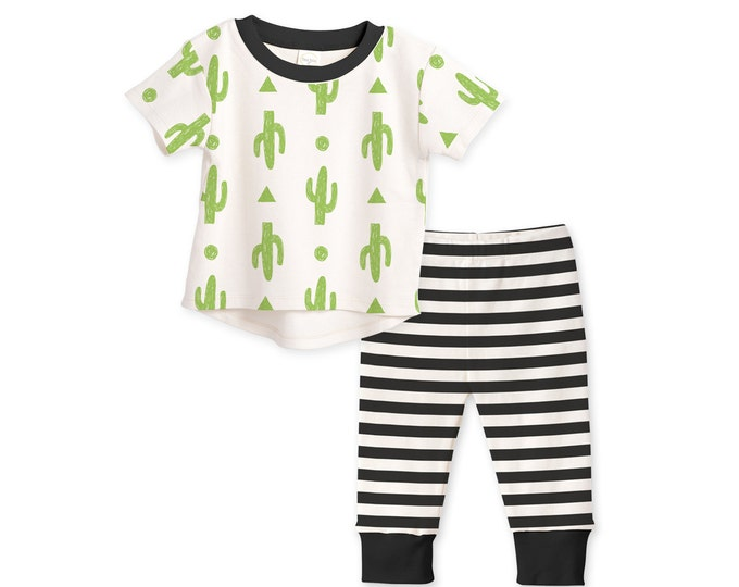 SUMMER SALE! Baby Boy Outfit, Baby Boy T-shirt & Sweats, Minimalist, Cactus Outfit, Baby Boy Gift, Baby Boy Clothes Tesababe TL120CIBK0000