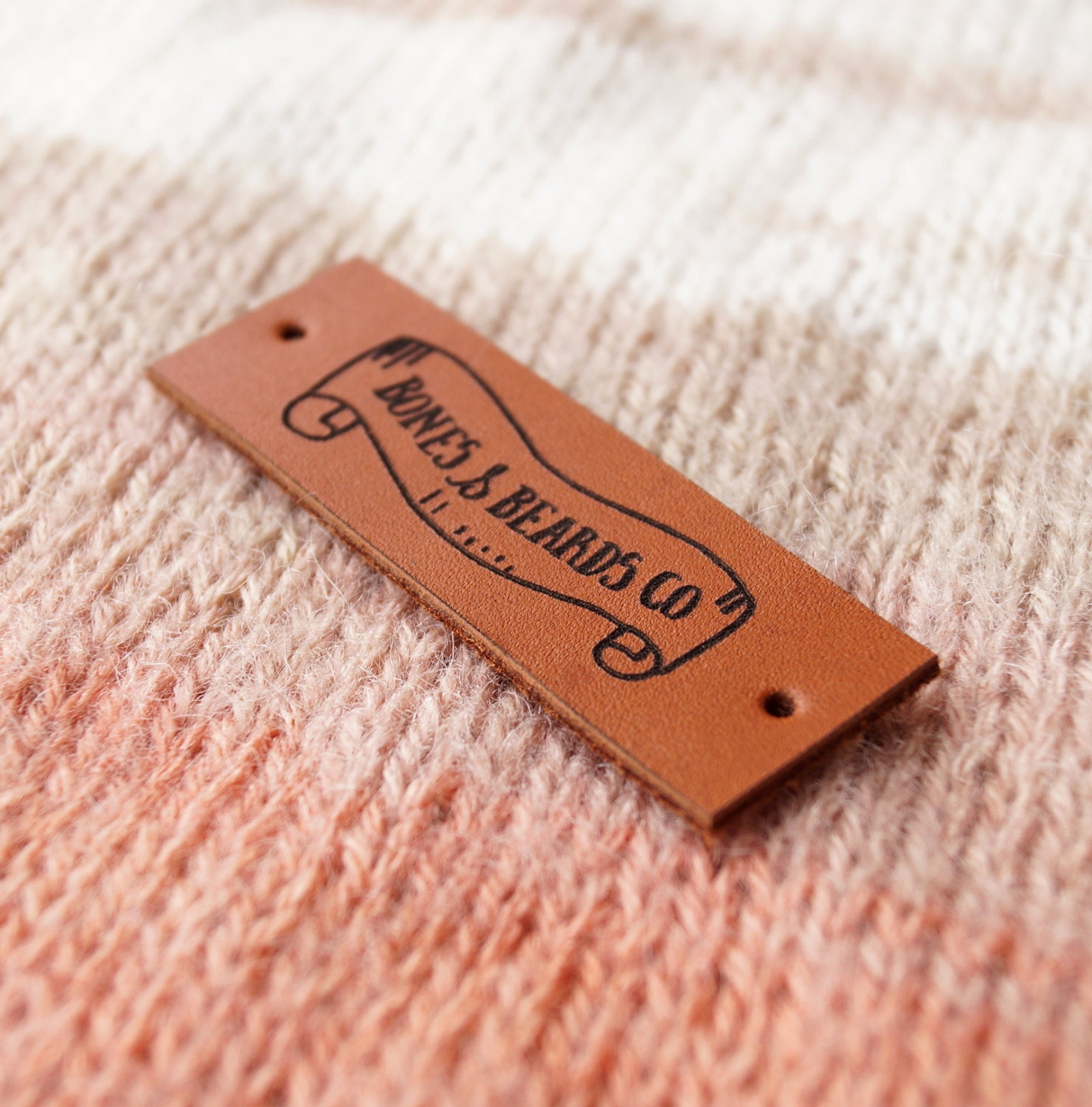 Knitting Labels Canada : Garment leather labels personalized knitting
