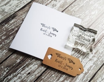 Custom thank you stamp custom personalised wedding stamp