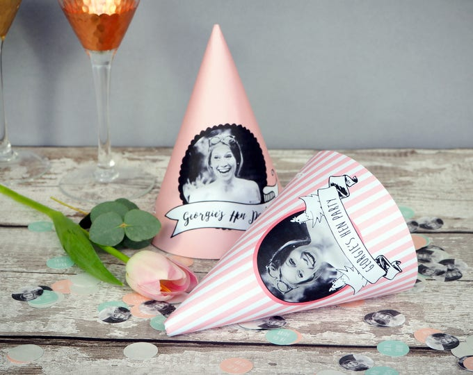 Featured listing image: Personalised Hen Party Hat Template // DIY PRINTABLE FILE