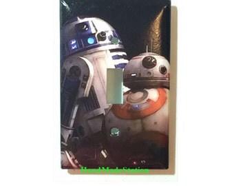 Star Wars BB8 / BB-8 R2D2 Robot Toggle, Rocker Light Switch & Power Duplex Outlet Plate Cover Home Decor