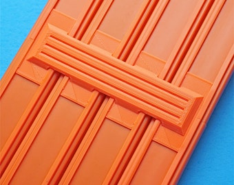 4-Lane Track Connector (6pk) - For Hot Wheels Orange Raceway Race Track