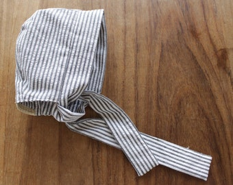 Striped Baby Bonnet