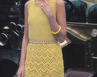Womens crochet dress pdf vintage crochet dress pattern dress pdf INSTANT download pattern only